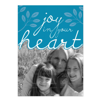 5x7 Joy in Your Heart Flat Card | Personalized Invites