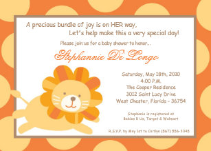 Lion king baby shower invitations zazzle 5x7 king of the jungle lion baby shower invitation filmwisefo
