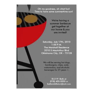 5x7 Kingof Grill Master Summer Barbecue Invitation