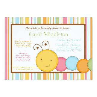 5x7 la primavera Caterpillar Worm la invitación de Invitación 12,7 X 17,8 Cm