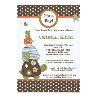 5x7 Laguna Beach Turtle Baby Shower Invitation