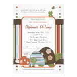 5x7 Laguna Turtle Frog Bee Baby Shower Invitation Custom Invites