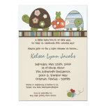 "5x7 Laguna Turtle Frog Bee Baby Shower Invitation 5"" X 7"" Invitation Card"