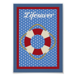 5X7 Lifesaver Nautical Wall Art