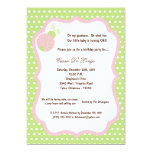 "5x7 Light Green Lady Bug Birthday Party Invite 5"" X 7"" Invitation Card"