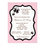 5x7 Light Pink Butterfly Baby Shower Personalized Invitation