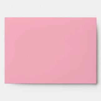 5x7 Light Pink Outside Dark Pink Inside Envelope