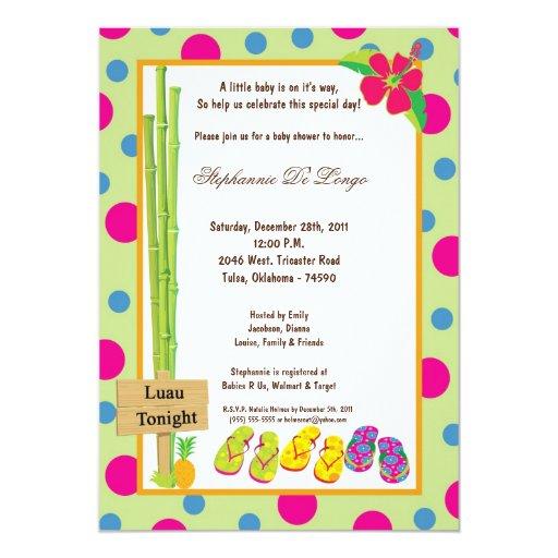 5x7 luau baby shower invitation zazzle