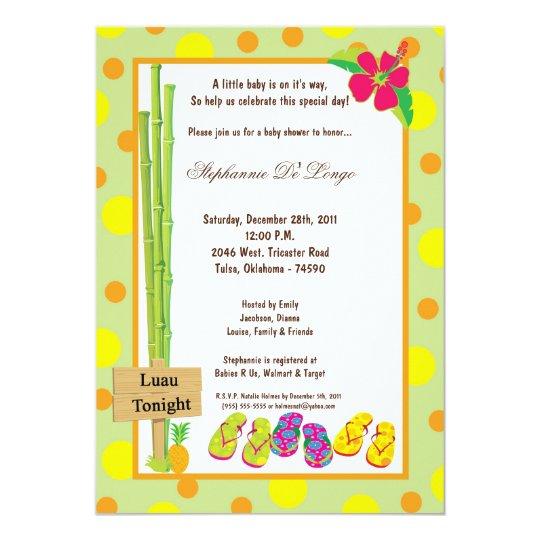 5x7 Luau Baby Shower Invitation