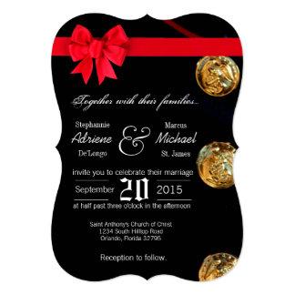 5x7 Marine Dress Blues Uniform Wedding Invitation