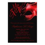 5x7 Masquerade Mask 15 Quinceanera Ball Invitation