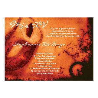 5x7 Masquerade Quinceanera Birthday Invitation