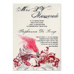 """5x7 Masquerade Quinceanera Birthday Invitation 5"""" X 7"""" Invitation Card"""