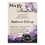 5x7 Masquerade Quinceanera Birthday Invitation
