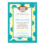 5x7 Modern Mod Monkey Baby Shower Invitation Personalized Announcements