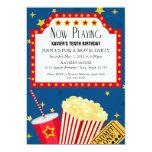 """5x7 Movie Party Invite 5"""" X 7"""" Invitation Card"""