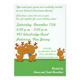 5x7 Mr. & Mrs. Claus Christmas Party Invitation