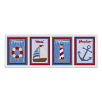 5X7 Nautical Wall Art Collection