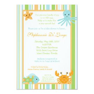 "5x7 Ocean Sea Life Octopus Baby Shower Invitation 5"" X 7"" Invitation Card"