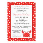 5x7 Ocean Sea Life Red Crab Baby Shower Invitation Personalized Invite