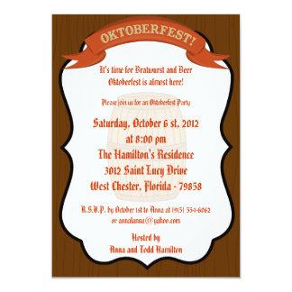 5x7 Oktoberfest Invitation