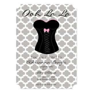 5x7 Ooh La La Lingerie Party Card