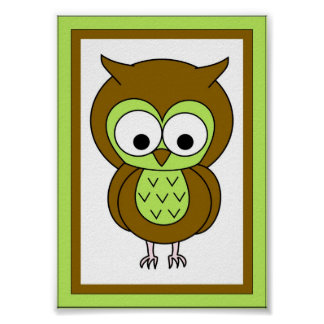 5X7 Owl Wall Art