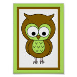 5X7 Owl Wall Art Posters