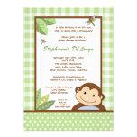 5x7 Papagayo Monkey Safari Baby Shower Invitation Custom Invite