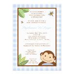 5x7 Papagayo Monkey Safari Baby Shower Invitation Personalized Invitation