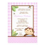 5x7 Papagayo Monkey Safari Baby Shower Invitation Personalized Invitations