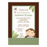 5x7 Papagayo Monkey Safari Baby Shower Invitation Invites