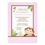 5x7 Papagayo Monkey Safari Baby Shower Invitation Card