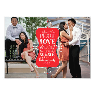 5x7 Peace, Love & Joy Frame 2 Photo Card