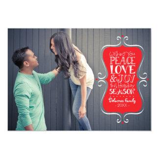 5x7 Peace, Love & Joy Frame Photo Card
