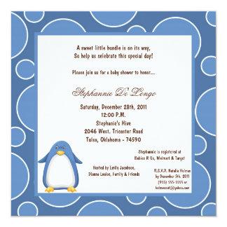 5x7 Penguin Pok-a-Dot Baby Shower Invites