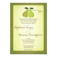 5x7 Perfect Pear Fruit Vintage Wedding Invitation