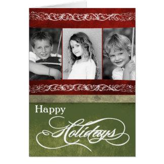 5x7 Personalized FOLDING PHOTO Christmas Card