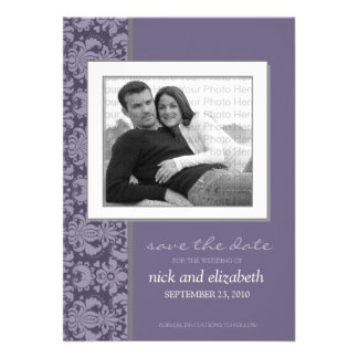 5X7 Pick YOUR OWN Color Baroque Save the Date 11 Custom Invitation