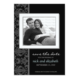 5X7 Pick YOUR OWN color Baroque Save the Date 1 Card