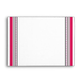 5x7 Pink and Black Wild Flowers Option 05 Envelope