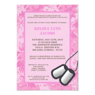 pink camo baby shower invitations announcements zazzle