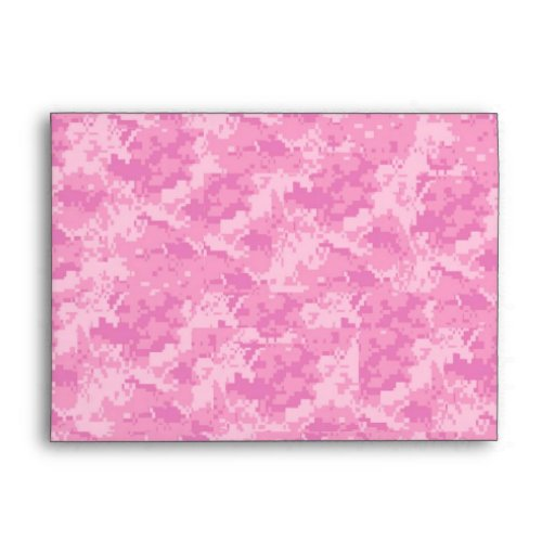 5x7 Pink ARMY Camo Outside Pink Inside Envelope