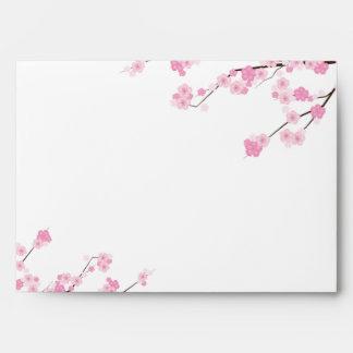 5x7 Pink Cherry Blossom Branch Envelope