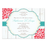 5x7 Pink Flower Floral Baby Shower Invitation