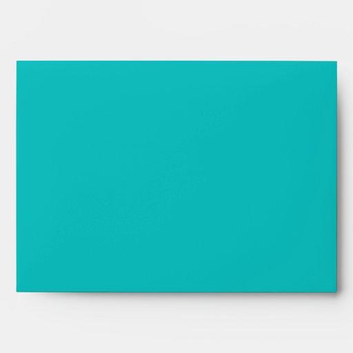 5x7 Pink Green Blue Diagonal Stripes Envelope