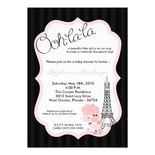 in paris baby shower invitation 5 x 7 invitation card zazzle