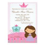 5x7 Princess Girl Carria Birthday Party Invitation