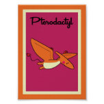 5X7 Pterodactyl Dinosaurs Wall Art Print