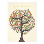 "5x7 Rainbow Bird Tree Custom Wedding Invitation 5"" X 7"" Invitation Card"